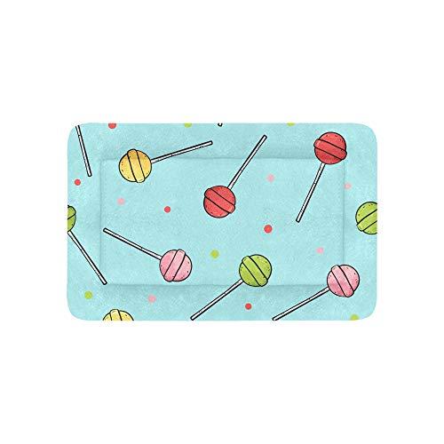 Süße zucker lollipop süßigkeiten extra große individuell bedruckte bettwäsche weiche hund bett für welpen und katzen möbel matte höhle pad abdeckung kissen indoor geschenk lieferant 36 X 23 Zoll -