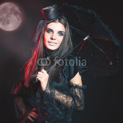 druck-shop24 Wunschmotiv: Entrance is limited to nightclub, dress code. Halloween party 2016! #121221634 - Bild auf Leinwand - 3:2-60 x 40 cm/40 x 60 cm (Dress Code Halloween)