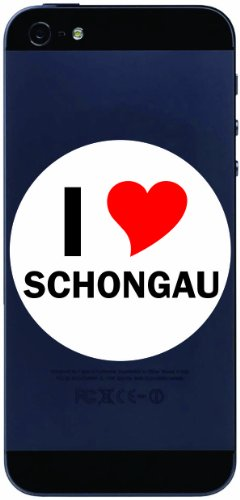 I Love Aufkleber 7 cm mit Stadtname SCHONGAU - Decal - Sticker - Handy - Handyskin - Handyaufkleber - Telefonaufkleber / JDM / Die cut / OEM