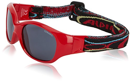 Alpina Kinder Sonnenbrille Line SPORTS FLEXXY Outdoorsport-brille, Red, One Size