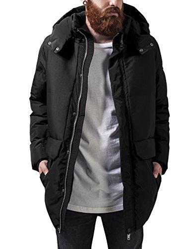 Urban Classics Heavy Long Bubble Jacket, Giacca Uomo, Nero (Black 7), XX-Large