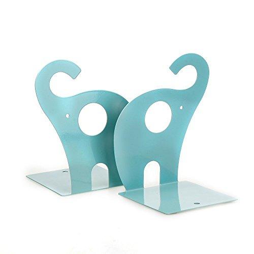 Elefant Buchstützen rutschfeste Art Buchstütze Book Ständer Pink 1Paar blau