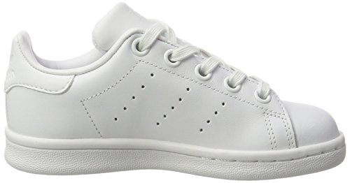 adidas Stan Smith, Sneakers Basses Mixte Enfant Blanc (Footwear White/footwear White/footwear White)