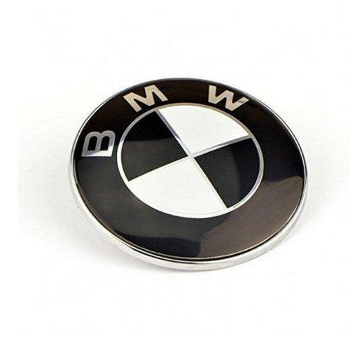 Ersatz Emblem 82 mm Schwarz Weiss auf der Fronthaube, Logo,Tuning
