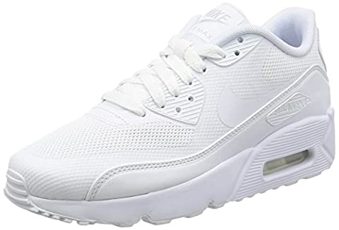 Nike Unisex-Kinder Air Max 90 Ultra 2.0 Sneakers, Weiß (White/White-White-Pure Gris Platinum), 36 (Nike Kinder Air Max)