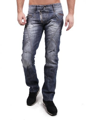 Cipo & Baxx Herren Jeans C-0751 blue/blau Größe 32W / 32L
