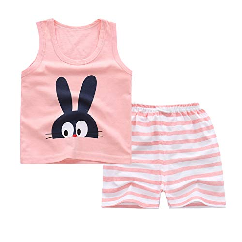 Kleinkind Säuglingsbabykleidung Set Kurzarmshirts + Strap Rock oder kurzes Baumwolloutfit Set 2 Stück 0.5-4 Jahre (Seemann 2 Stück Kostüm)
