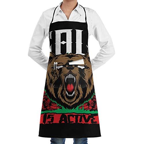 Die California Republic Unisex Schürze mit Taschen für Chef Kitchen Restaurant BBQ Grill Backen Coffee Shop und Studio