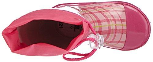 Playshoes Karo aus Naturkautschuk mit Reflektor 188651 Jungen Gummistiefel Pink (rose 14)