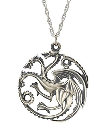 Game of Thrones Halskette Daenerys Targaryen Sigil Dragon silber Halskette (Diy Dog Kostüm Hot)
