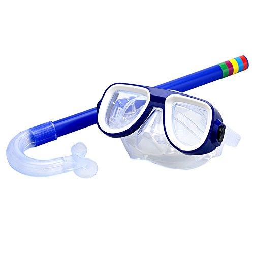 oobest Kinder Schnorchel-Set Silikon Schwimmen, Tauchen Maske Schnorchel mit Anti-Nebel Schwimmbrille für, blau