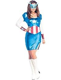 Ladies Miss American Dream Adult Fancy Dress Hen Party Costume