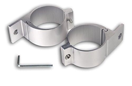 Preisvergleich Produktbild 2x Rohrschelle für Scheinwerfer für Rohrdurchmesser von 75 bis 78mm