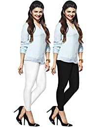 Lux Lyra Women's Ankle Length Leggings, Pack of 2, Free Size