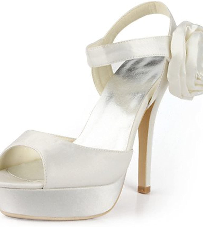 GGX/ Zapatos de boda-Planos-Tacones / Punta Abierta-Boda / Vestido / Fiesta y Noche-Negro / Azul / Amarillo /...