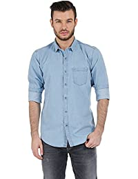 BASICS Slim Fit Celestial Blue Denim Shirts