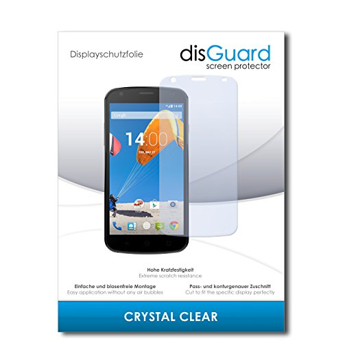 disGuard® Bildschirmschutzfolie [Crystal Clear] kompatibel mit MobiWire Pegasus [4 Stück] Kristallklar, Transparent, Unsichtbar, Extrem Kratzfest, Anti-Fingerabdruck - Panzerglas Folie, Schutzfolie