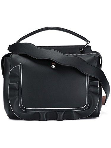 Fendi Damen 8Bn293s3cf03k1-Mcf Schwarz Leder - Handtaschen Schwarz Fendi