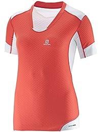 Salomon - T-Shirt EXO Pro M rouge blanc -