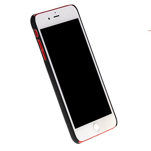 Cuitan 1pc Coppie Amanti Frosted Cover Custodia per Apple iPhone 5 / 5S / SE, Design è Hes Mine Anti-Graffio Protettiva Custodia Back Cover Case Shell per iPhone 5 / 5S / SE - Nero + Bianco a, 1pc Hes Mine