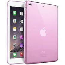 Bumper Custodia Silicone TPU Case per Apple iPad mini 1 / 2 / 3 - rosa / trasparente