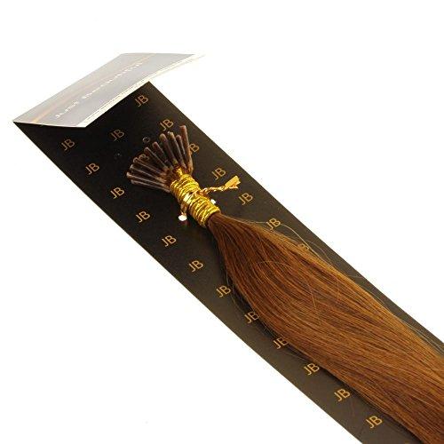 Just Beautiful Hair and Cosmetics Extensions capillaires avec micro anneaux pour pose à froid Cheveux naturels Remy 50 cm 0,5 g par mèche
