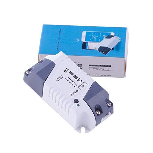 KNOSSOS App Control Smart Home Modification Mini Remote WiFi Timer Switch for Alexa White & Gray