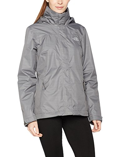 The North Face Damen Regenjacke Lowland, medium grey heather, M (North Face Softshell Jacke)