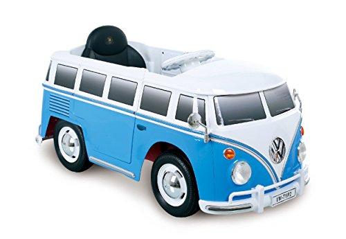 ROLLPLAY Premium Elektrofahrzeug mit Fernsteuerung und Rückwärtsgang, Für Kinder ab 3 Jahren, Bis max. 35 kg, 12-Volt-Akku, Bis zu 4 km/h, VW Bus T1 (Typ 2), Blau*