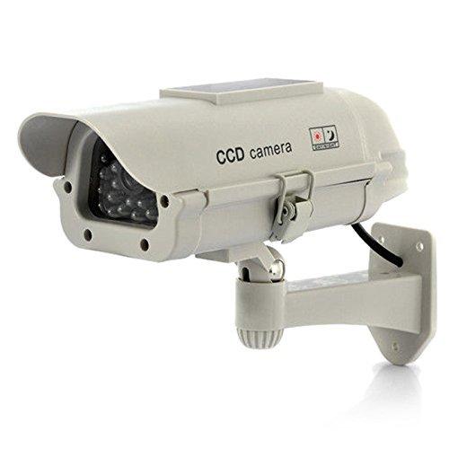 Solar Fake Camera – TOOGOO(R)False IR LED Solar Powered Dummy Camera CCTV Security Surveillance White