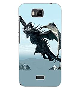 ColourCraft Dragon Design Back Case Cover for HUAWEI HONOR BEE