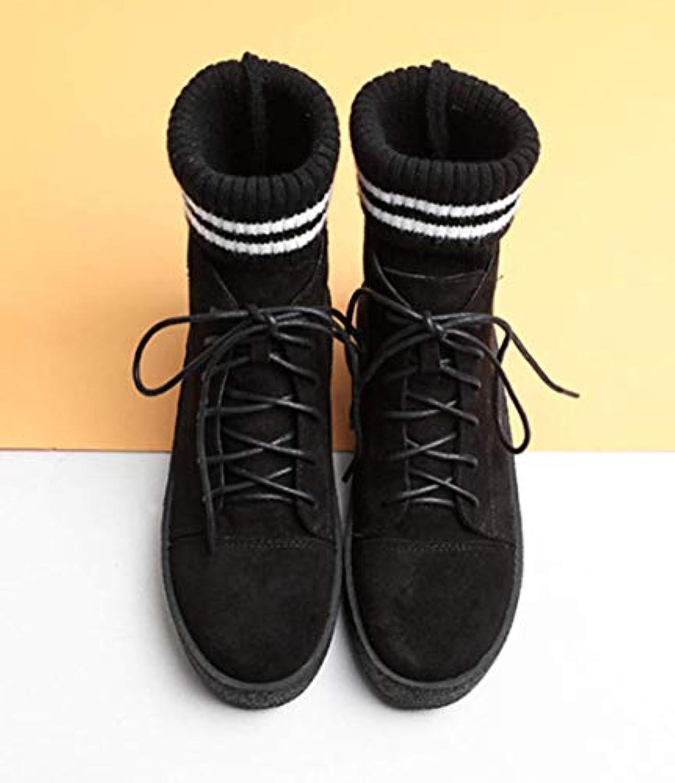 Shiney Stivali Stivali Stivali da Donna Martin Stivali da Lana Stivali Invernali New England Style Wild Retro Thick Platform   Pregevole fattura  fcac17
