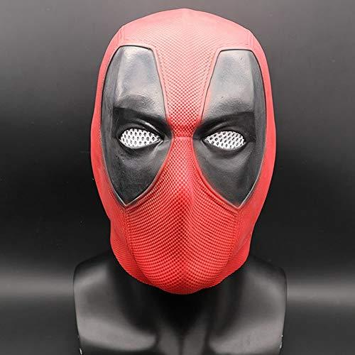 (hcoser Halloween Deadpool Maske Latex Kopf Gesicht Helm Movie DP Cosplay Kostüm für Erwachsene Kostüm)