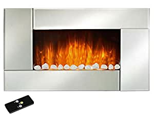 Livinxs Noblesse Wall Mounted Electric Fireplace 1000 W 2000 W With Flame Effect