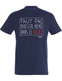 Hasta le Rugby By Serge Simon -T-shirt Que le Rugby soit avec toi-Phrase-Style Ecole de Nice