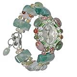 Joyas Relojes Reloj de Pulsera Reloj de Cuarzo Agata Jade Natural