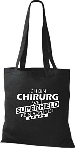 Tote Bag Shirtstown Sono Un Chirurgo Perché Il Supereroe Non È Una Professione Nera