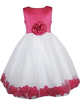 Sunny Fashion – Vestito floreale, bambina, rosa