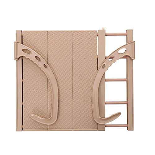 SONGDP Colgante Rack de Secado Radiador antioxidante Airer Toalla Ropa Ropa Plegable Lavadero Airer Secadores Soporte de Barra de 5 rieles para Interior o Exterior Longitud Ajustable marrón