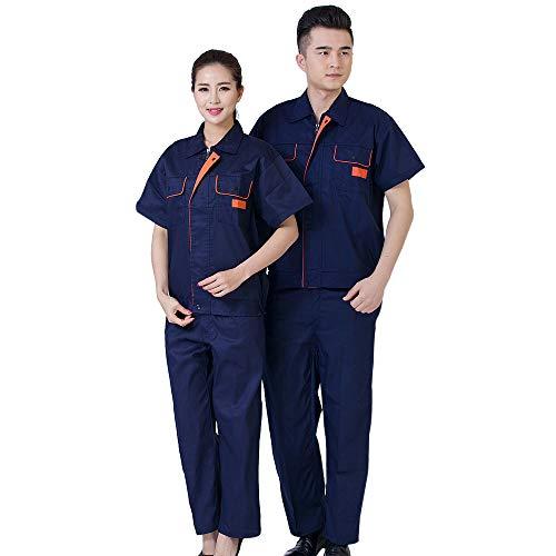 KINDOYO Set di indumenti da lavoro - tuta a maniche corte Salopette da lavoro estiva da laboratorio di fabbrica, Stile-1, EU 160=Tag 170