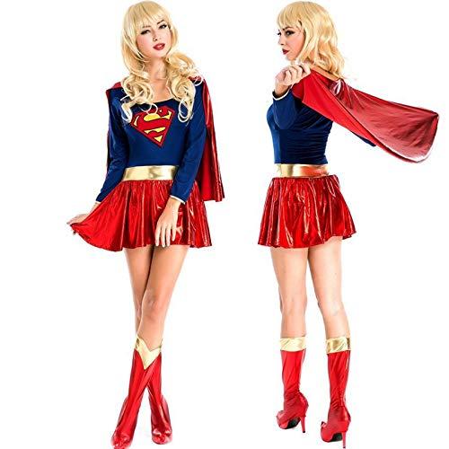 Sttsale Halloween Kostüm Mädchen, Halloween Cosplay sexy Superfrau Anzug DS Nacht Erwachsenen Party Kostüme, weibliche Krieger fotografische (Verbrecher Kostüm Weiblich)