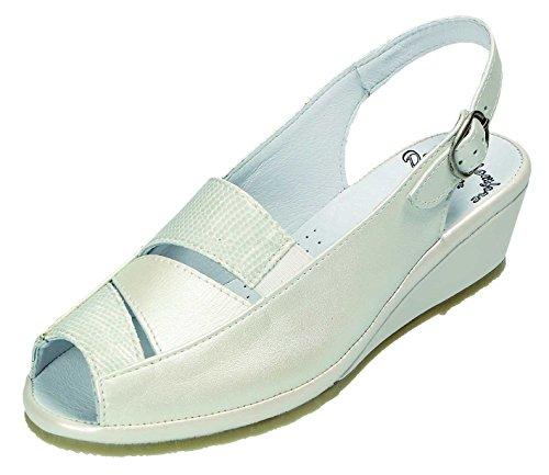 sandalette Branco Ampla sandalette Doccomfort G Sandalen Weite Weiss D komb Sandálias Doccomfort D G Pente z64E8BnBq