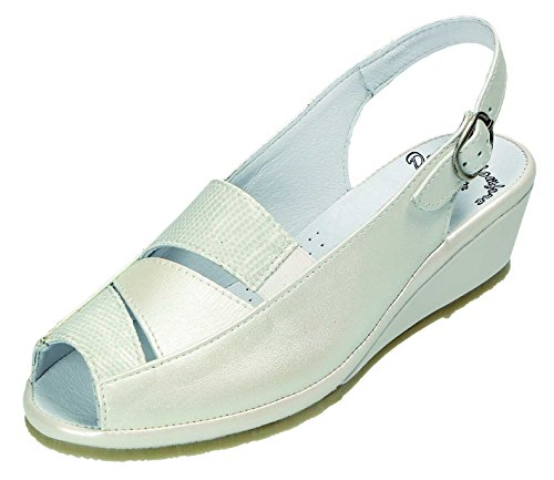Pente Ampla Doccomfort G Weiss Weite D komb Sandálias G sandalette Branco D sandalette Sandalen Doccomfort HwqFvH