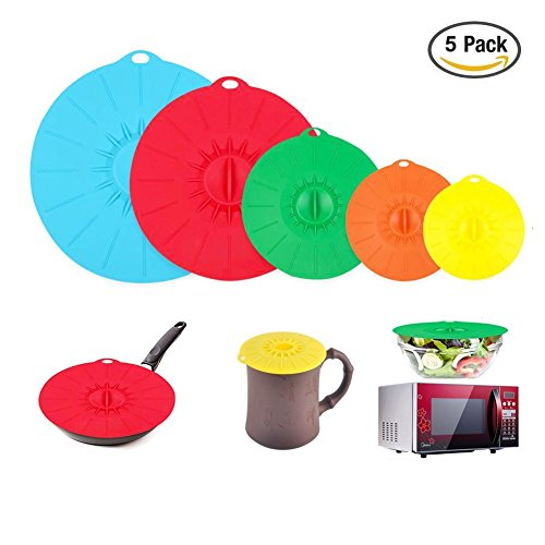 silicone-suction-lids-set-of-5-various-size-press-sealed-microwave-dish-covers-multiple-colour-reusa