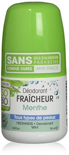 So'bio étic déodorant fraicheur menthe 50 ml - lot de 2