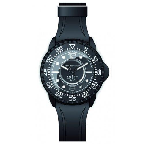 Ted Lapidus - 5123202 - Montre Homme - Quartz Analogique - Cadran Noir - Bracelet Caoutchouc Noir