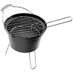 4YourHome BBQ Klassisch Tragbare Leichtgewicht Außen Zelten Piknik Eimer Barbecue - Schwarz