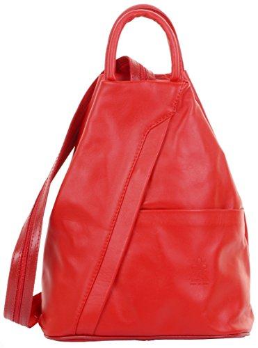 Primo Sacchi Italienisch Weicher Nappaleder roter oberer Handgriff Schultertasche Rucksack Rucksack. Inklusive Markenschutz-Aufbewahrungstasche (Oberen Basis)