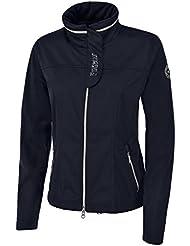 PIKEUR Damen Softshell Jacke mit Stehkragen AQUINA, navy, 40