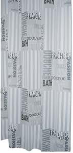 Ridder 303120 Duschvorhang Folie ca. 180 x 200 cm, Font